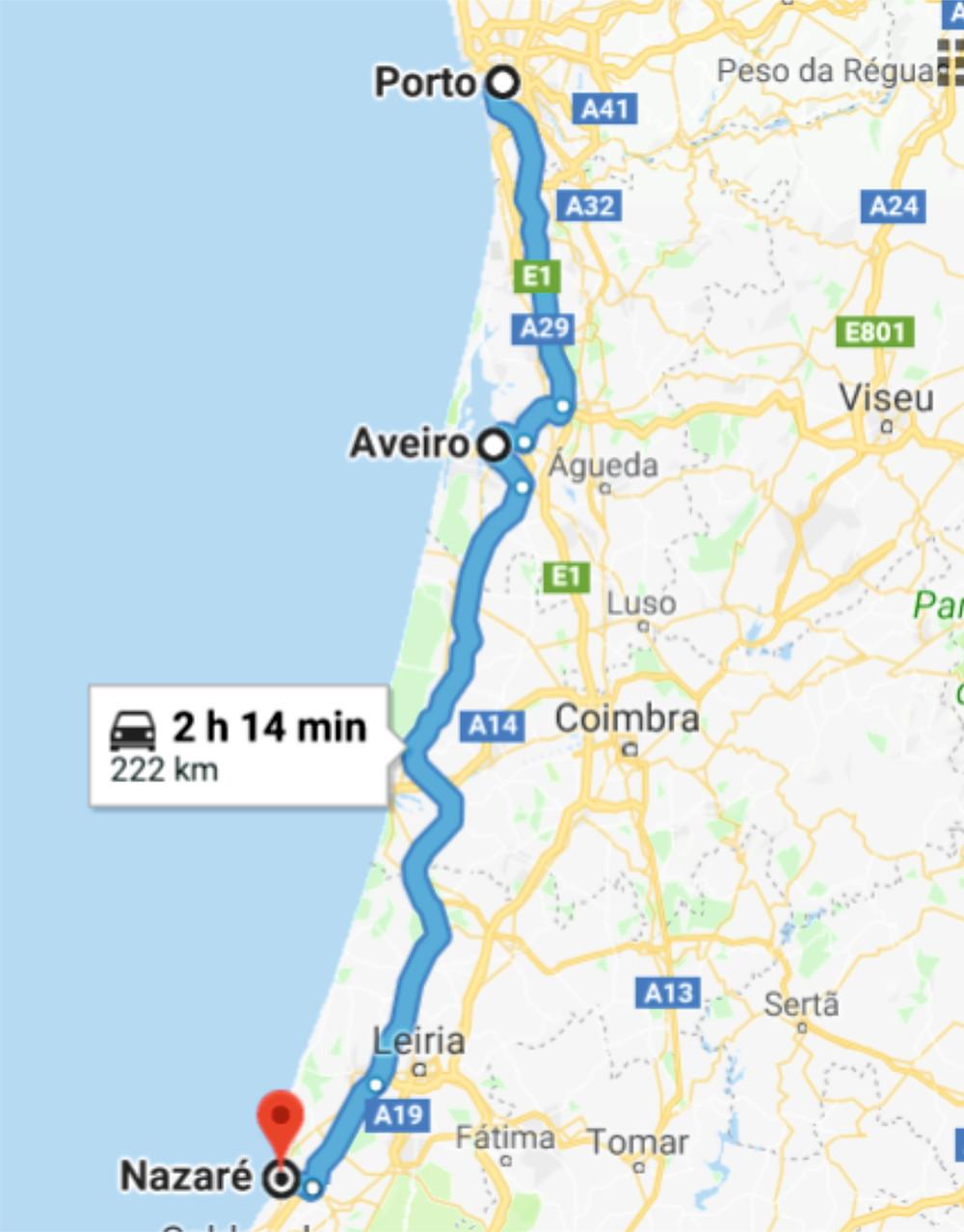 Da Porto a Nazarè