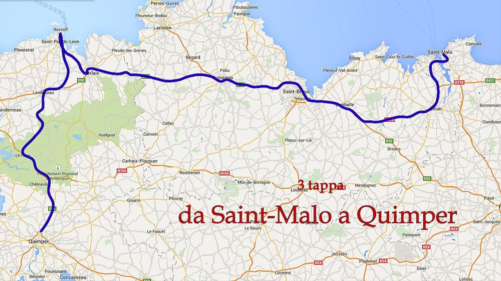 Percorso da Saint-Malo a Quimper