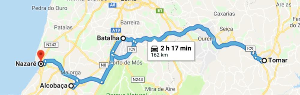 Giro dei monasteri da Nazarè Portogallo