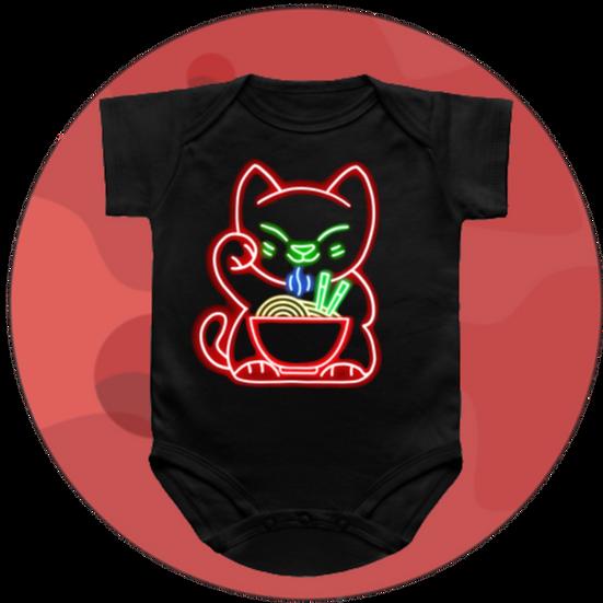 Maneki Neko Ramen Cat Baby Snap-suit & T-Shirt