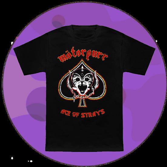Motorpurr Ace Of Strays Music T-Shirt