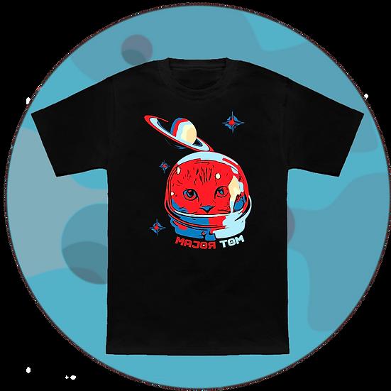 Major Tom Astronaut Cat Music T-Shirt