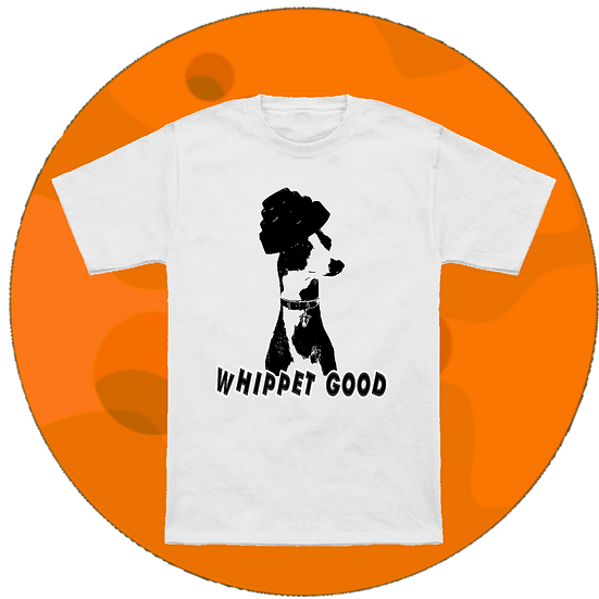 Whippet Good Dog Music T-Shirt