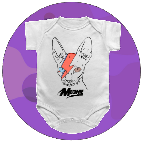 Meowie Stardust Acatin Sane Baby Snap-suit & T-Shirt