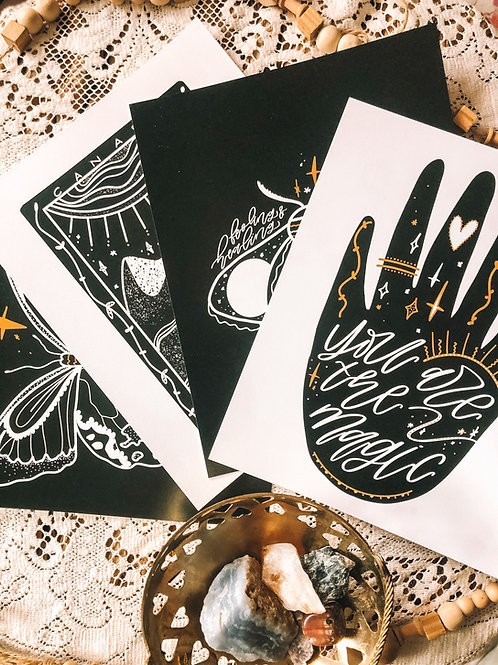 """✨ COLLECTION"" SET OF 4 ~ 8x10 art print"