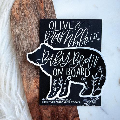 """""""baby bear on board""""  vinyl sticker"""