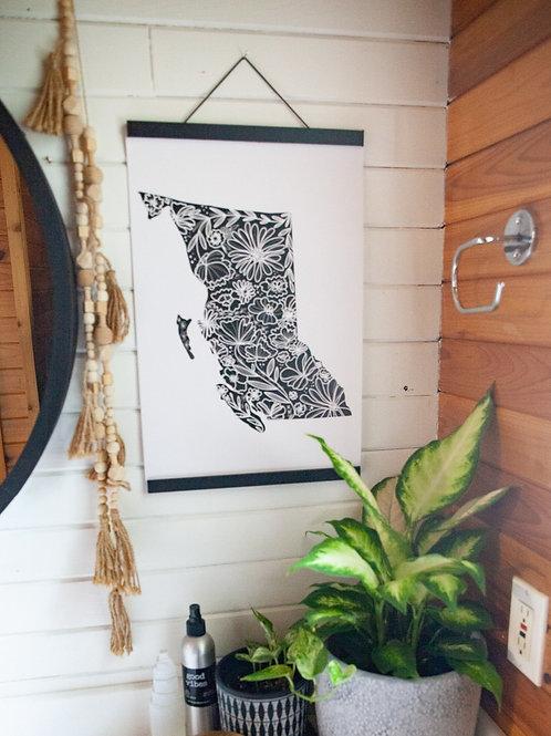"""""""bc floral"""" 12x18 cardstock art print"""