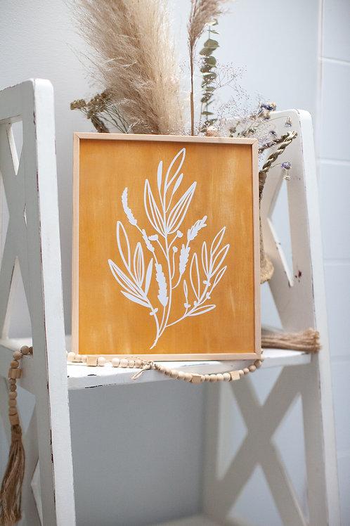 """""""wild sprig"""" ~10""""x12 handcrafted birch wood home art"""