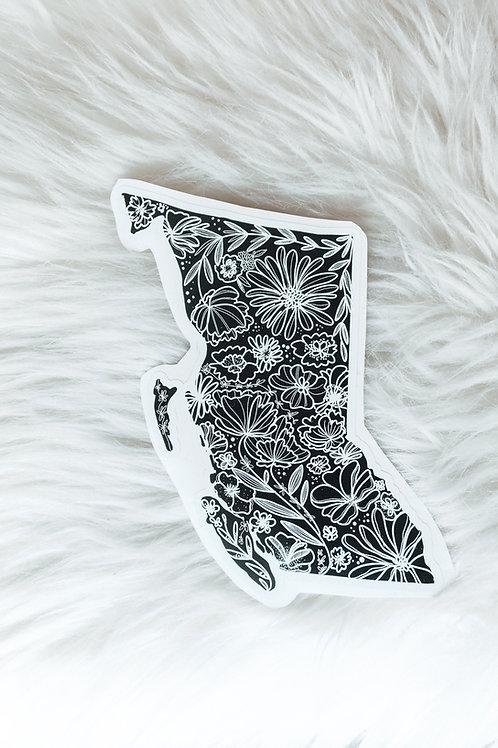 BC floral vinyl sticker
