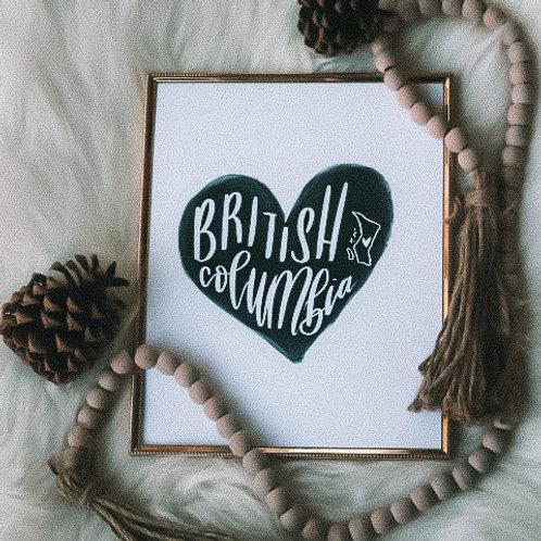 """bc heart"" 8x10 art print"