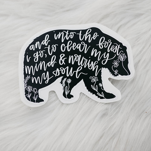 """forest bear"" sticker"