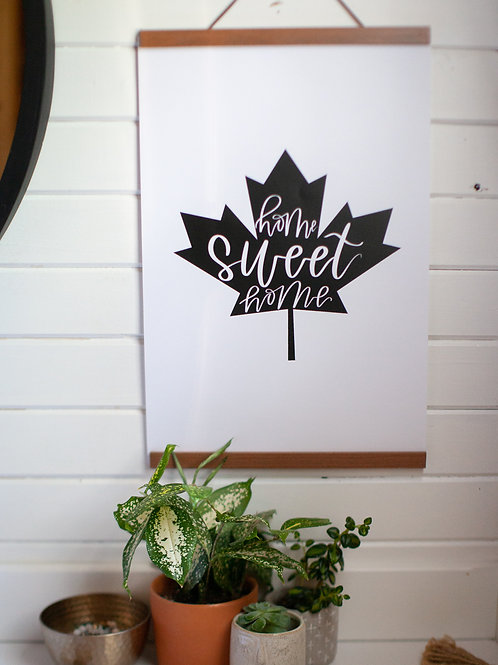 """home sweet home leaf"" 12x18 cardstock art print"