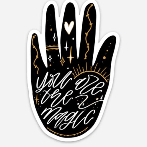 """""""you are the magic"""" 2.5"""" x 3.85"""" vinyl sticker"""