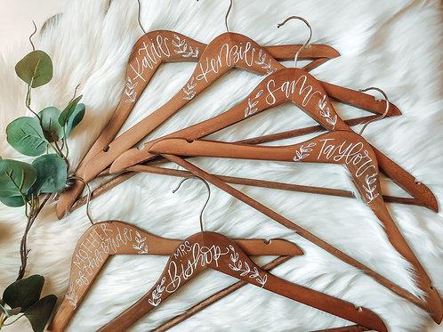 CUSTOM calligraphy hand painted hanger