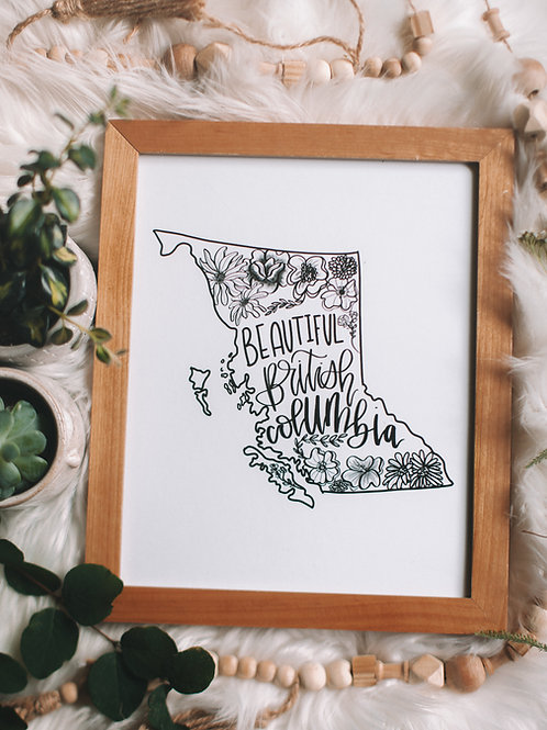 """BC wildflowers"" 8x0 art print"