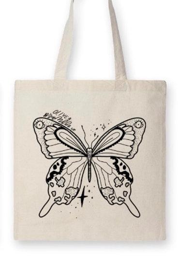 """EMERGE"" ~ tote bag 100% Organic Cotton, 6oz"