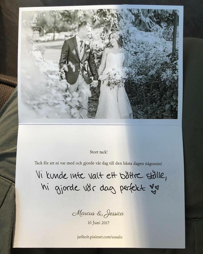 Att hämta posten och hitta denna underbara hälsning❤️ Det gjorde vår dag!❤️ Tack finaste Jessica och