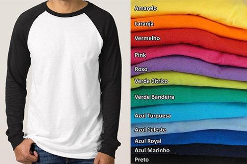 Camiseta Manga longa raglan manga longa fio 30.1
