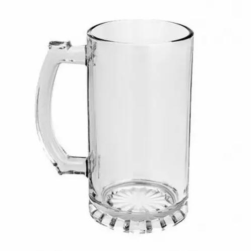 Caneca de Chopp em Vidro Cristal para Sublimação - 475ml