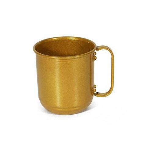 Caneca de Alumínio para Sublimação dourada 400ML