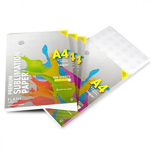 100 Folhas de Papel Sublimático A4 Premium