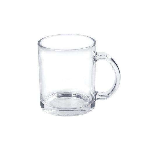 Caneca de Vidro Cristal para sublimação 325ml