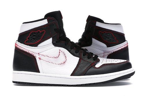 Jordan 1 Retro High Defiant White Black Gym Red