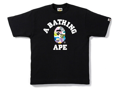 BAPE Multi Camo College Tee Black