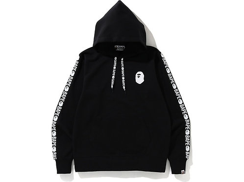 BAPE Double Knit Wide Pullover Hoodie Black