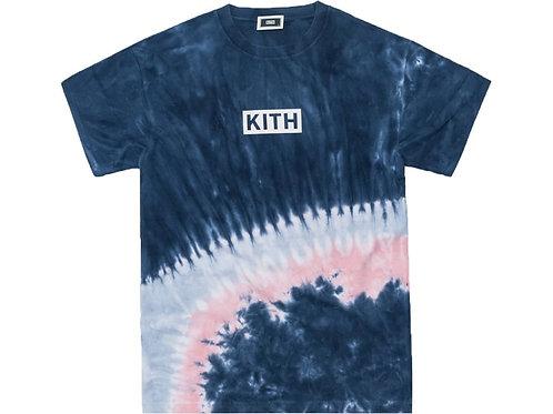 Kith Summer Tie Dye Tee Blue/Pink