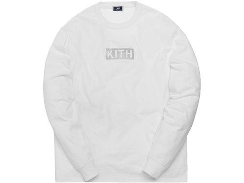Kith Reflective L/S Tee White