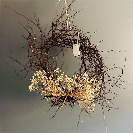 Willow and Baby Breath Wreath