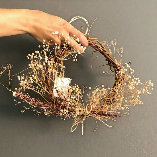 Passionfruit & Baby breath Wreath