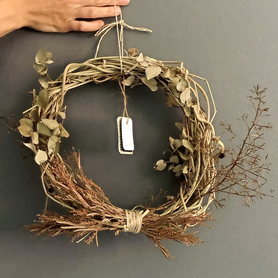 Native Wreath with Lavender