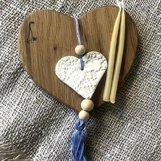 EA Mother's Day Love-Heart coaster small hamper