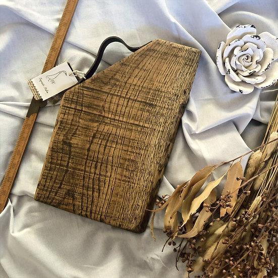 Rustic Leather Handle Oblique Oak Board