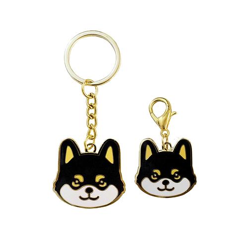 Kylo the Shiba Keychain & matching collar charm