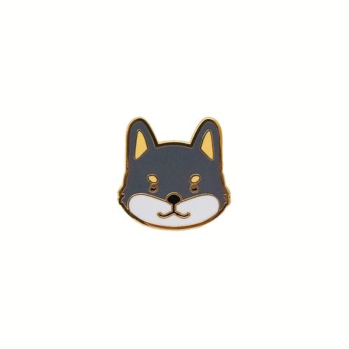 Shiba Inu Enamel Pin - Black