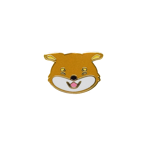 Airplane ears Shiba Enamel Pin - Red