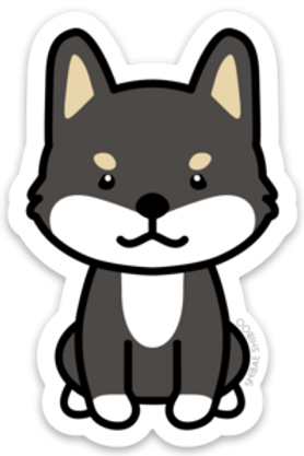 Nori the Shiba Inue Sticker - Black