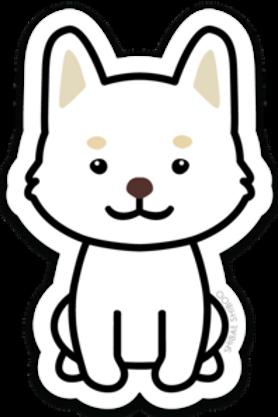 Kobe the Shiba Inu Sticker - White