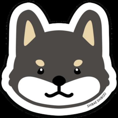 Shiba Inu Sticker - Black