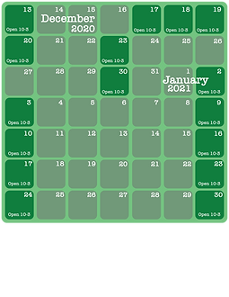 Holiday and Janury calender (eng with ho