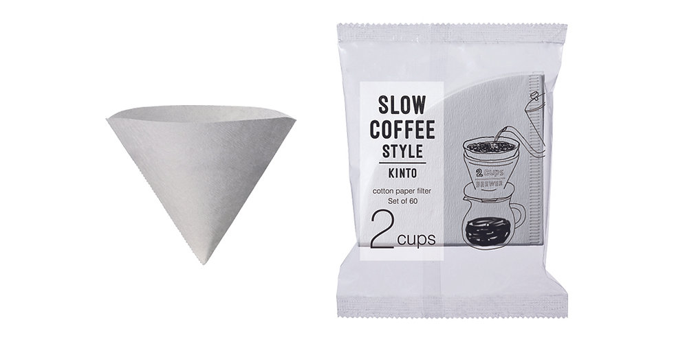 Kinto SCS-02-CP-60 Cotton paper filter for 2 cups