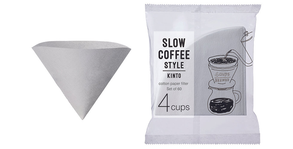 Kinto SCS-04-CP-60 Cotton paper filter for 4 cups