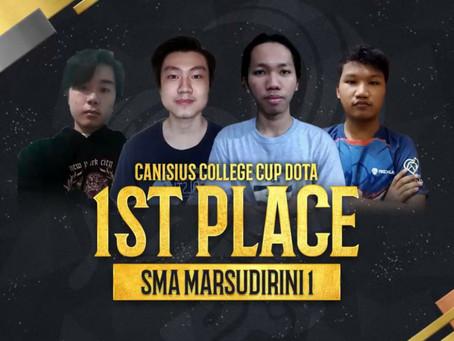 Lomba Esport kembali membawa SMA Marsudirini Bekasi meraih Juara 1 di Canisius College Cup XXXV