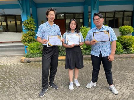 TIM A SMA Marsudirini Bekasi meraih peringkat 8 besar
