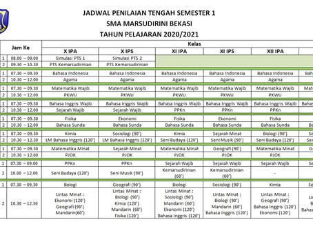 Jadwal Penilaian Tengah Semester 1 Tahun Pelajaran 2020/2021 SMA Marsudirini Bekasi