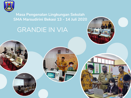 Hari pertama SMA Marsudirini Bekasi melakukan MPLS secara Daring atau Online