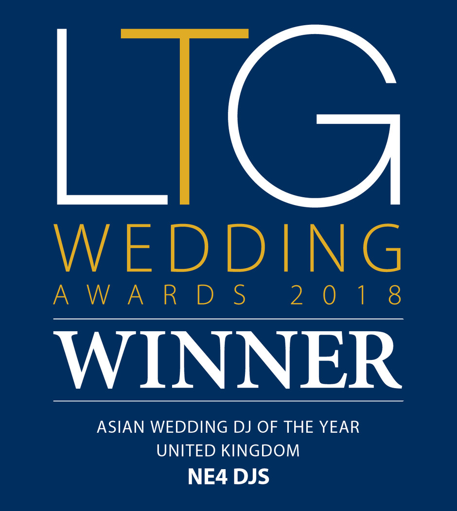 Luxury Travel Guide Wedding Awards 2018 - Winner - NE4 DJS - Asian Wedding DJ of The Year - UK!
